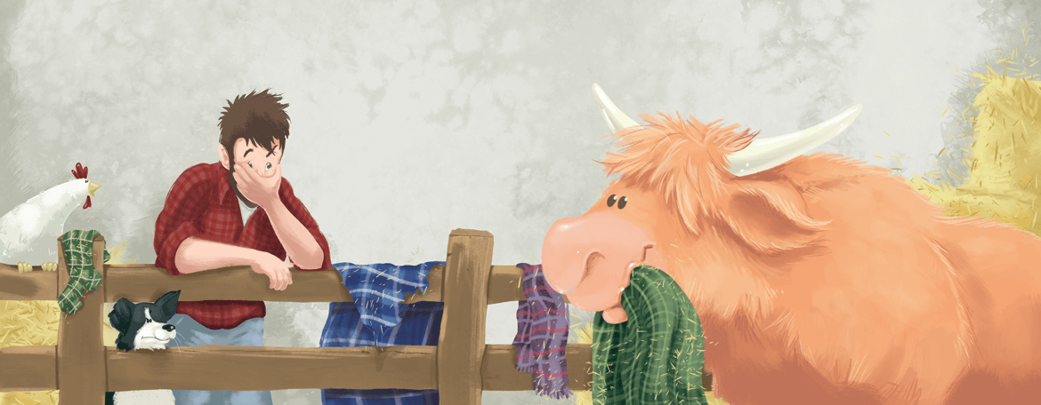 Rowena Aitken Illustration | Children's Books | The Kilted Coo | Tartan Haul