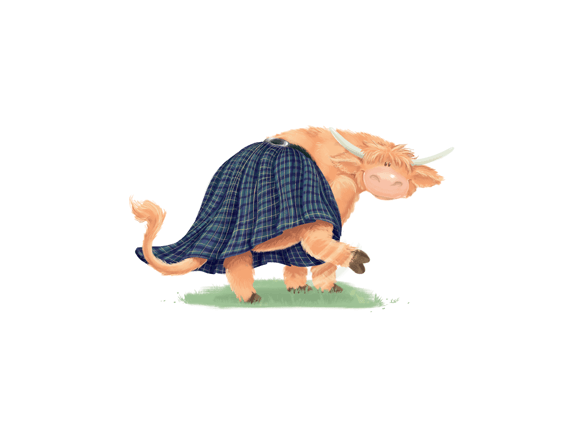 Rowena Aitken Illustration | Children's Books | The Kilted Coo | Bum Shoogle