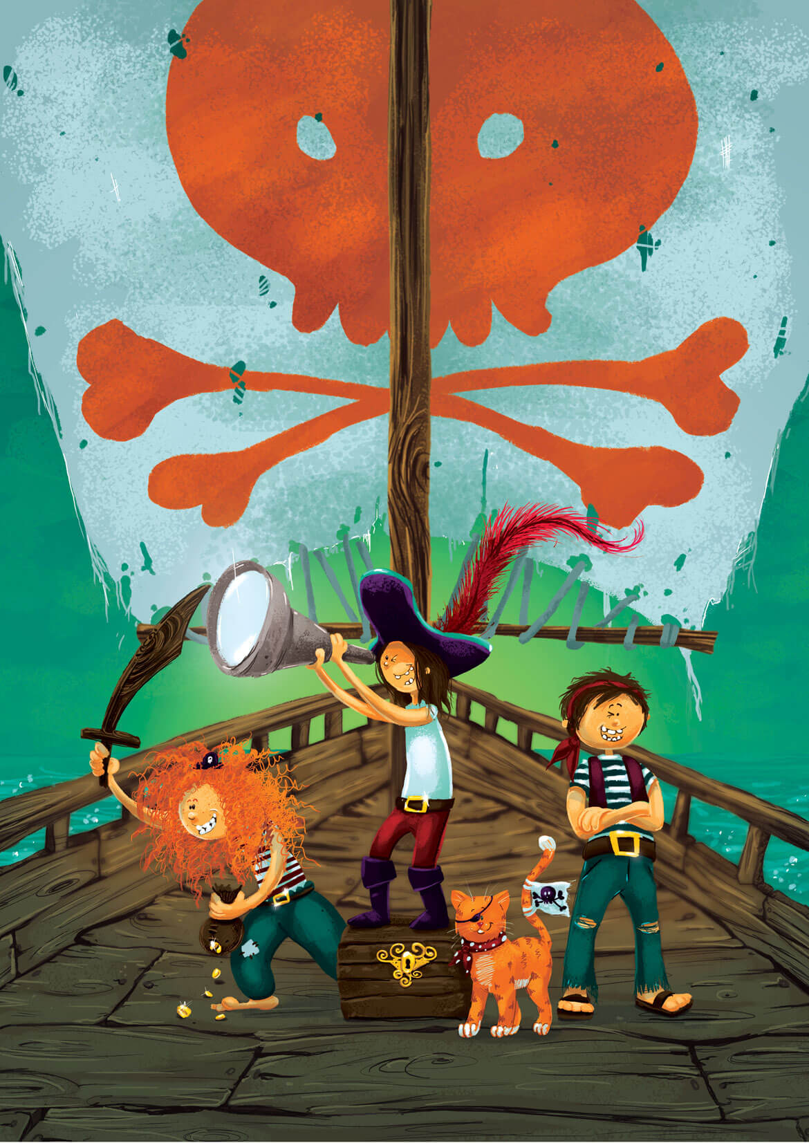 Rowena Aitken Illustration | Children | Pirates