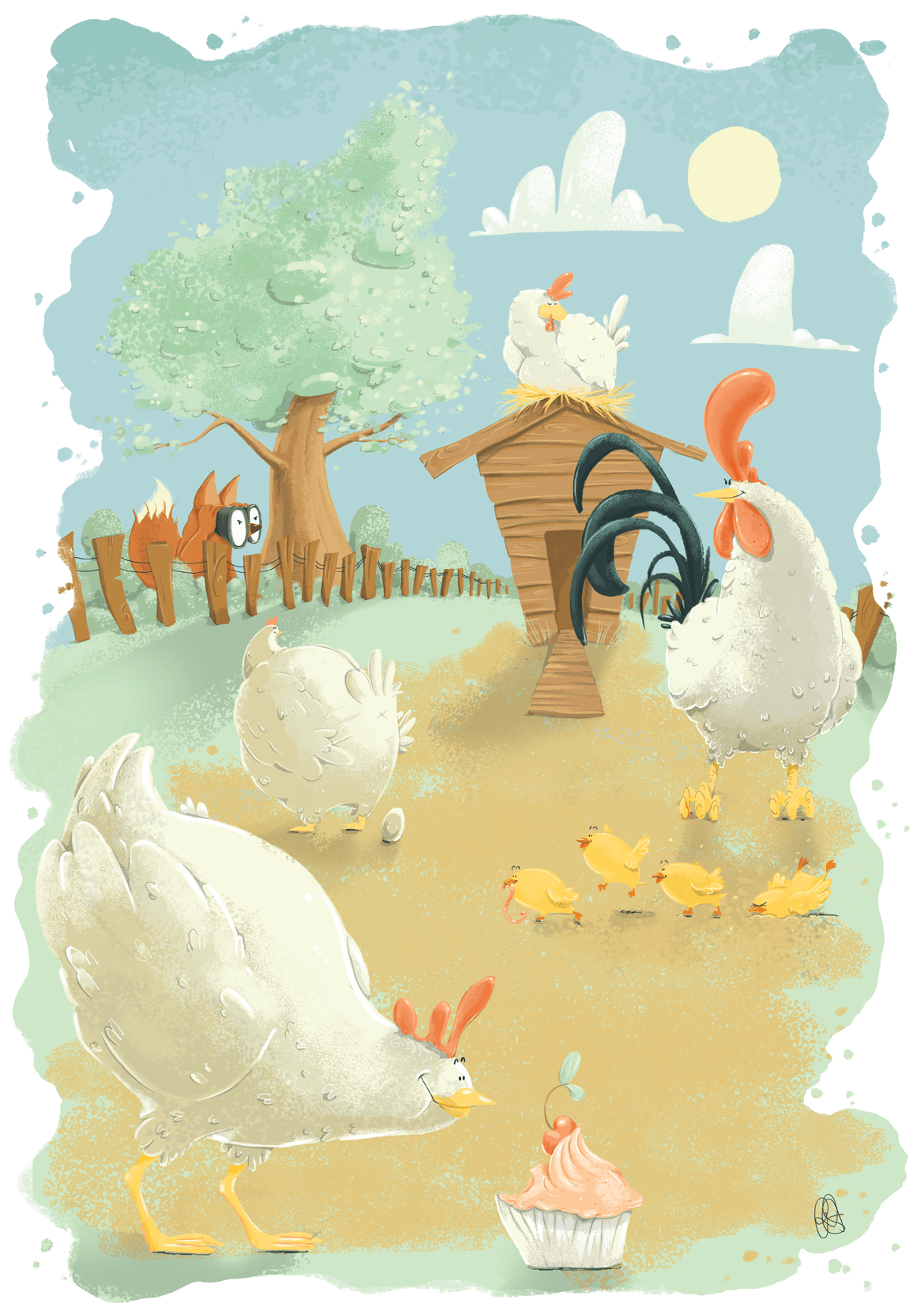 Rowena Aitken Illustration | Animals | Chicken