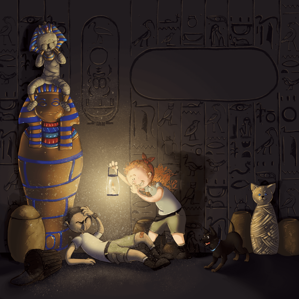 Rowena Aitken Illustration | Children | Egyptian Tomb