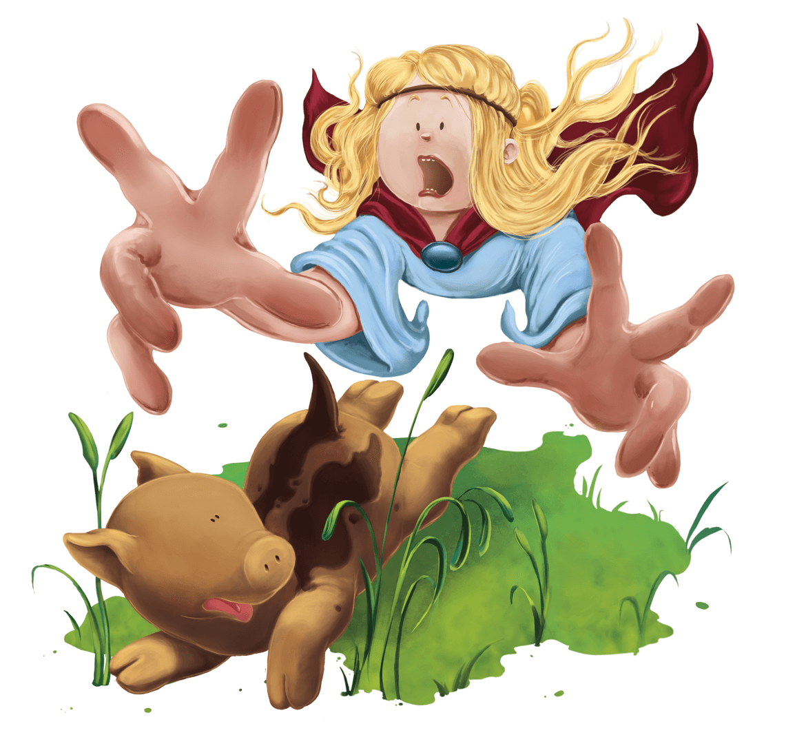 Rowena Aitken Illustration | Children | Morg Chases Hoglet