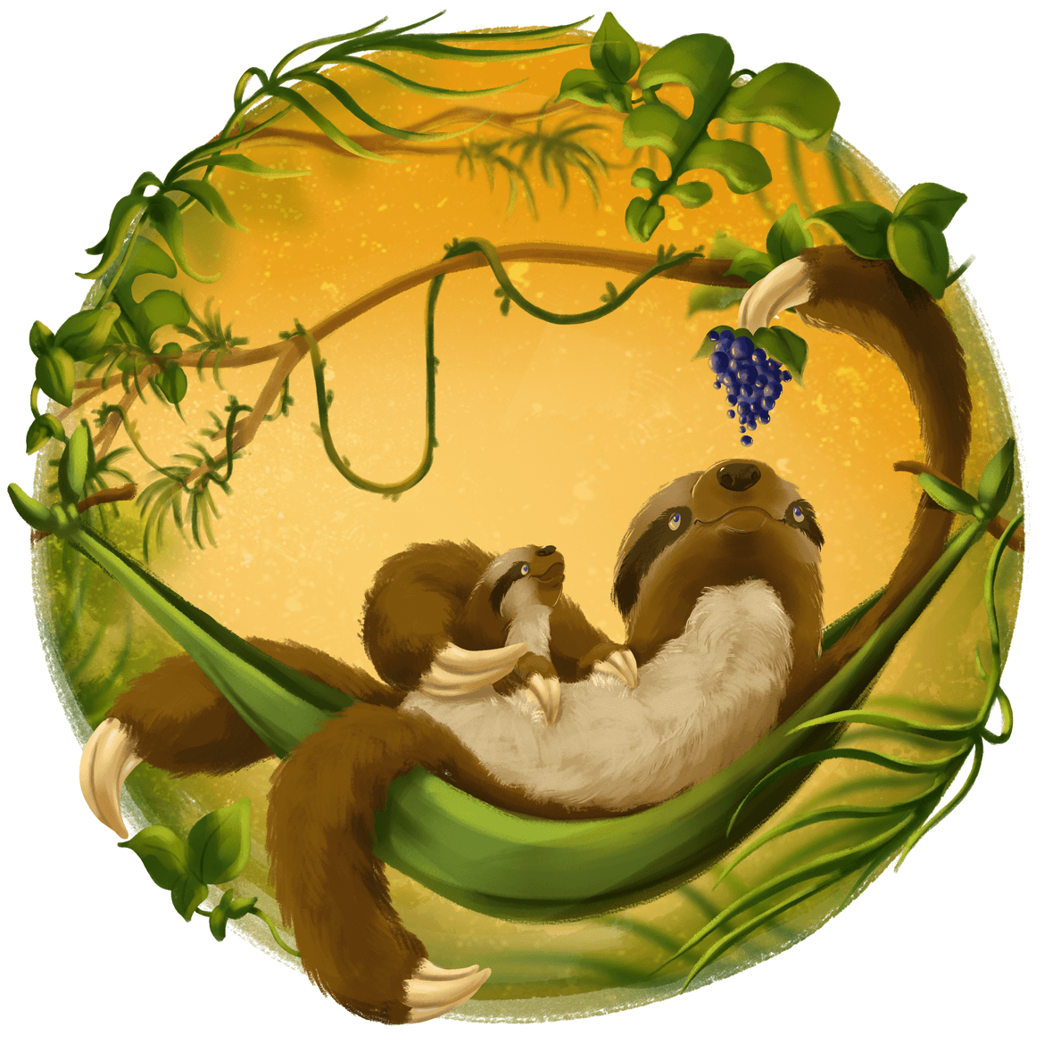 Rowena Aitken Illustration | Animals | Sloths