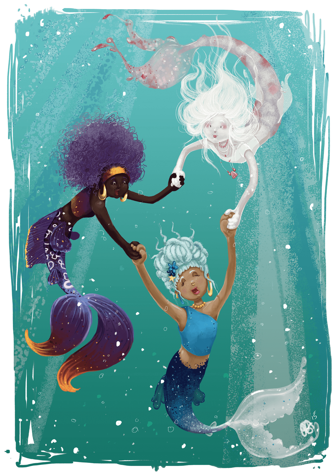 Rowena Aitken Illustration | Fantasy | Three Mermaids