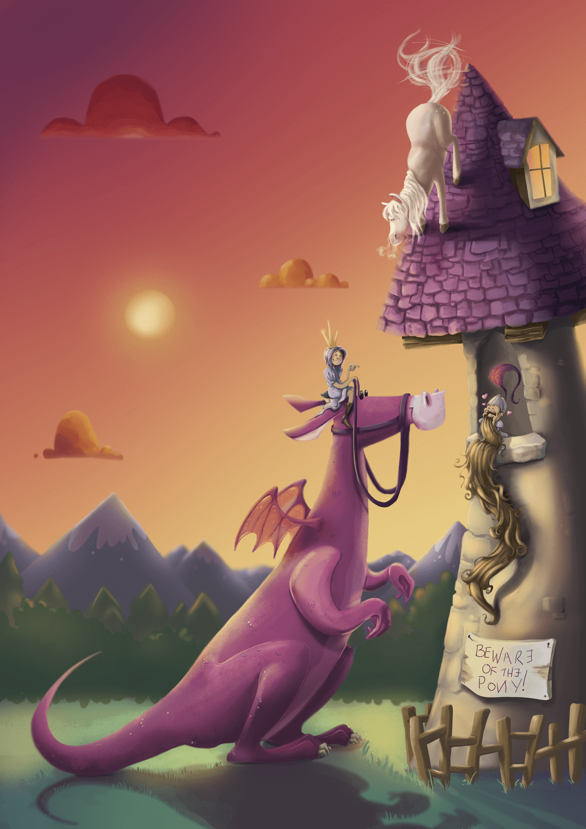 Rowena Aitken Illustration | Fantasy | Princess Tower