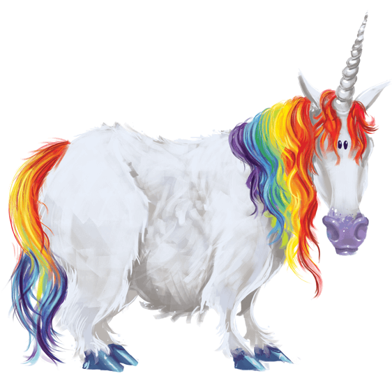 Rowena Aitken Illustration | Fantasy | Rainbow Unicorn
