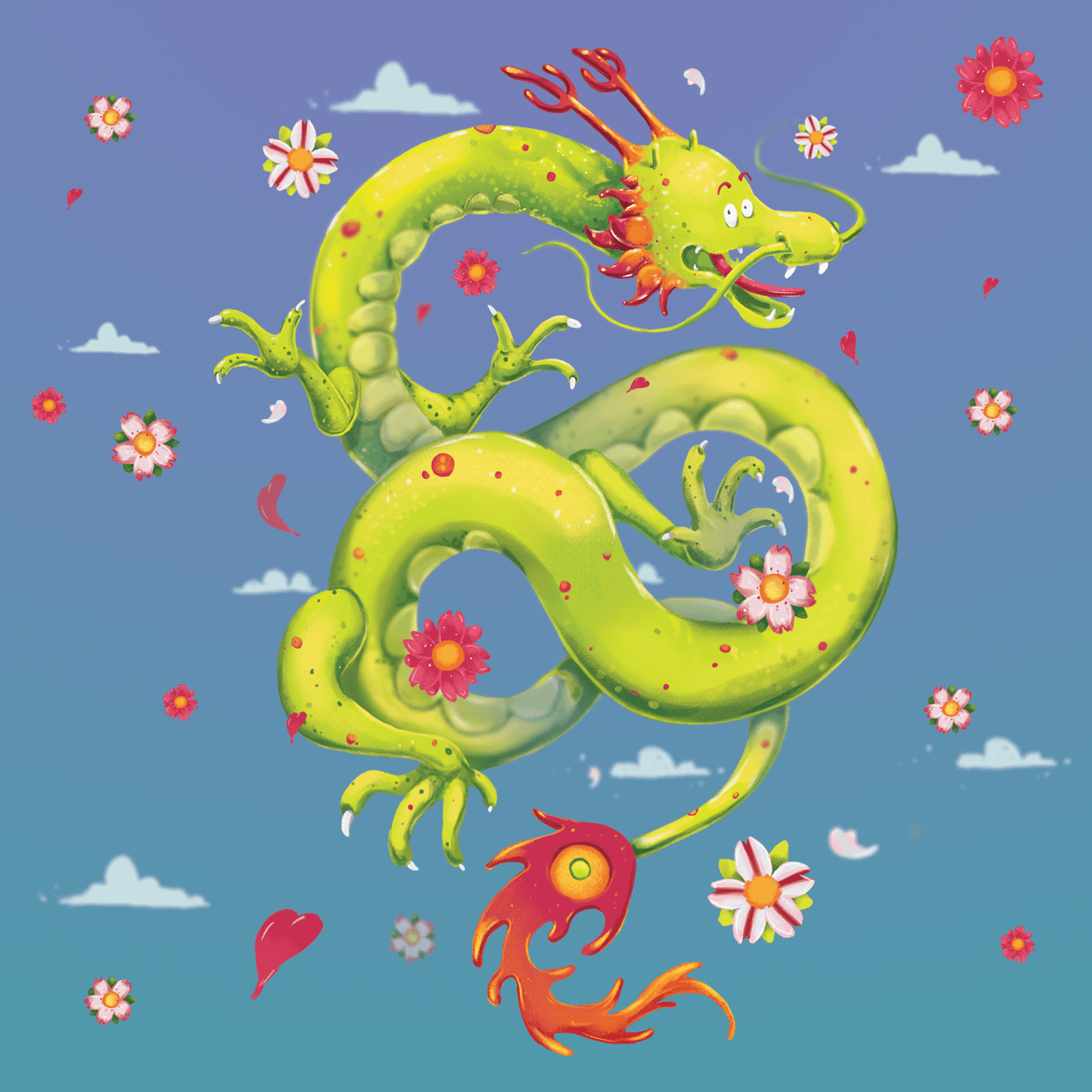 Rowena Aitken Illustration | Fantasy | Jazz Hands Dragon