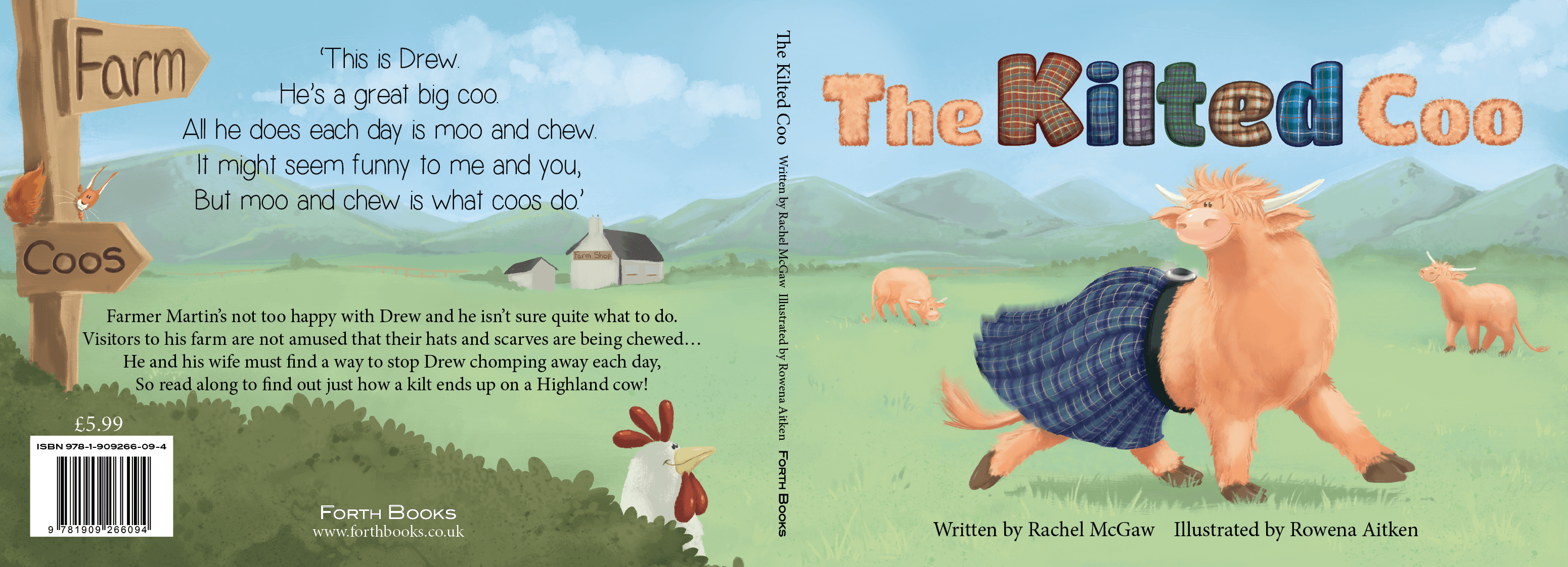 Rowena Aitken Illustration | Children's Books | The Kilted Coo Cover
